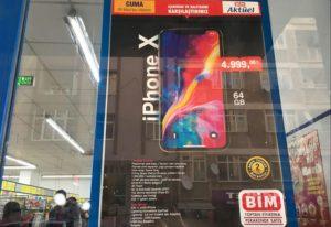 BİM'e 1.100 TL indirimli iPhone X 64gb. geliyor.