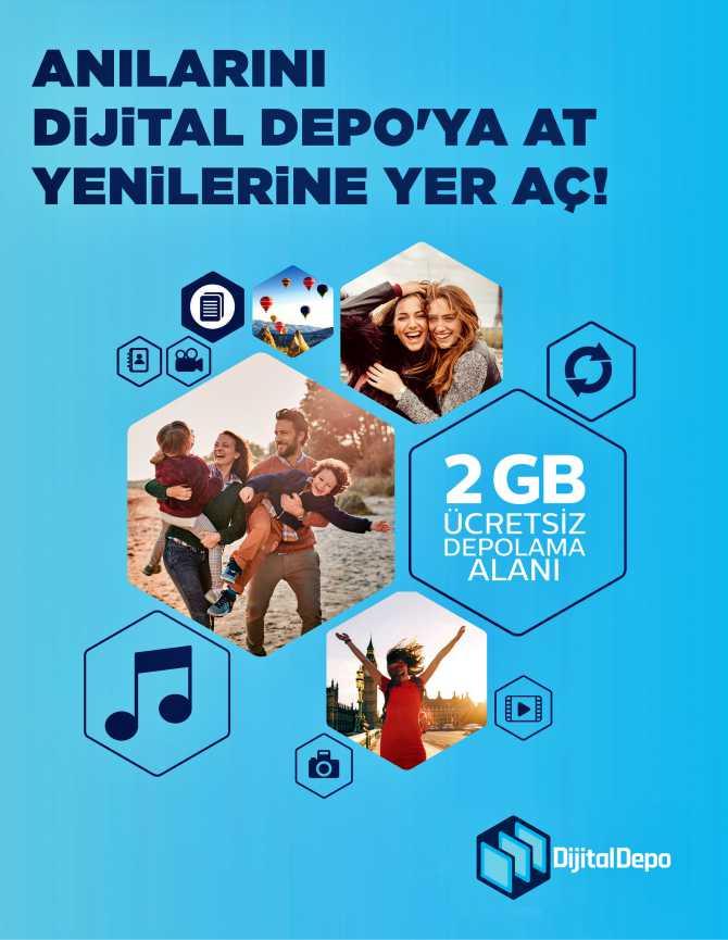 Türk Telekom Dijital Depo 2 GB ücretsiz alan veriyor